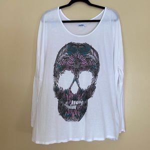 Lauren Moshi skull long sleeve tee